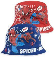 Spiderman Marvel Boys Bucket Hat Summer Sun Baseball Hats 2-8 Years 52 54 cm