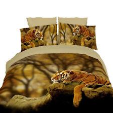 DM458K - King Duvet Cover Set, 100% Cotton 6 Piece Safari Themed Luxury Bedding
