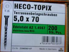 Heco Topix Terrassenschrauben 5,0 x 70 mm Edelstahl V2A 200 Stück