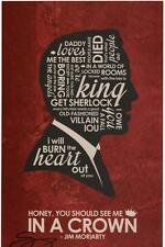 BBC Sherlock Holmes Jim Moriarty Andrew Scott Quote Print SIGNED Stephen Poon