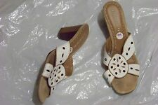womens relativity erica white leather strappy heels shoe size 9