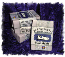 Sweet Pea_Moss Agate_ SPA Sulphur Mineral Soap Made in Montana Handmade Natural