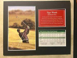 2000 The Open Championship Golf - Tiger Photo, bagtag, scorecard, etc.