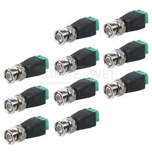 10Stk BNC-Stecker Buchse Adapter Terminal Verbinder Kupplung für CCTV Kamera Neu