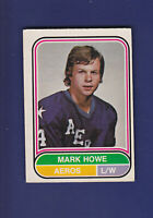 Mark Howe RC HOF 1975-76 O-PEE-CHEE WHA Hockey (EX+) #7 Houston Aeros
