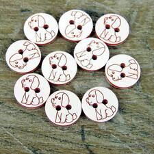10 x Rojo Perro BOTONES - 12.5mm - Bebé / Niños Manualidades Tarjetas PUNTO /