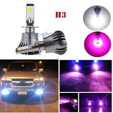2x H3 24W Car LED Fog Drive Light Bulb Purple White Dual Color Lamp 2400LM Lamps