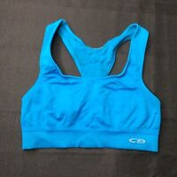 Champion Light Support Womens Teal Blue Sports Bra Size Small S Athleisure