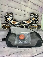 New listing Rollerblade Mens Tempest 110 100 Inline Speed Skates Size 9.5 Max Wheel 110mm