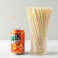 100pcs/Bag Birthday Party Drinking Plastic Straws Wedding Party Decor Supplies