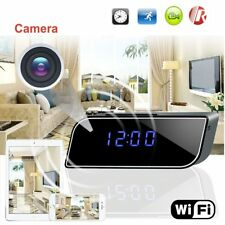 Wireless Spy Camera Alarm Clock Hidden Nanny Cam Motion Detection Mini DVR Video