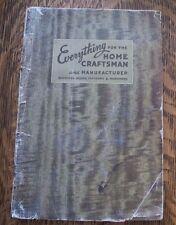 RARE 1937 CRAFTSMAN WOOD SERVICE CATALOG #9 WOODWORKING TOOLS MATERIALS HARDWARE