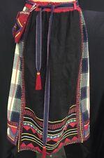 VTG 70s Hippie Festival Patchwork Ethnic Dress Gypsy Boho Skirt W/attached Purse