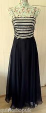AFTER SIX ROLAND JOYCE vintage sequinned 70's evening / party dress 8 36 VGC