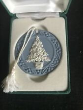 Wedgwood Blue Jasperware Tree Annual Christmas Ornament 1988
