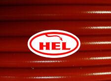 RED FZS600 FAZER 98-03 HEL BRAIDED STEEL OIL FEED PIPE