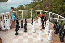 """Giant Plastic Chess Set with a 37"""" King - Garden Chess Set - Outdoor Chess Set"""