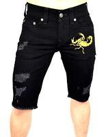 True Religion $199 Men's Geno Slim Novelty Cut Off Denim Shorts - 100532