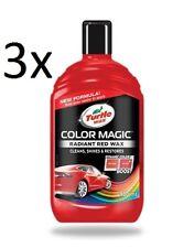 3x 500ml Turtle Wax Color Magic RADIANT RED Car Polish Paint Scratch Restorer