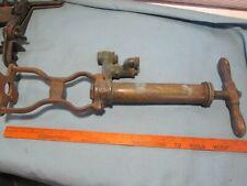 Antique/Vintage C. Perkes (Phila.) Brass/Cast Iron nautical Bilge Pump - Vgc