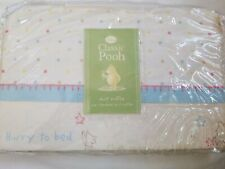 Disney Classic Pooh Baby Crib Dust Ruffle A Bear And His Things Nip standard sze