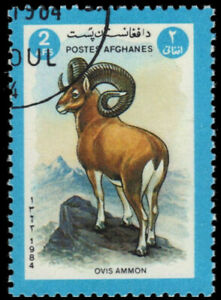 "AFGHANISTAN 1080 - Endangered Wildlife ""Argali Sheep"" (pa49080)"