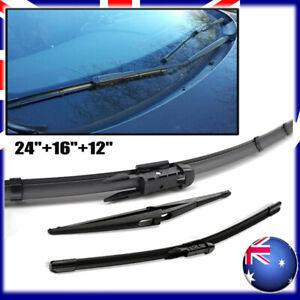 3xFront & Rear Wiper Blades For Nissan Dualis + 2 J10 JJ10 SUV 1.6 dCi 2006-2013