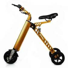 Electric 3 Wheel Folding Tricycle Light Weight Bike w/ LCD Display for Adults