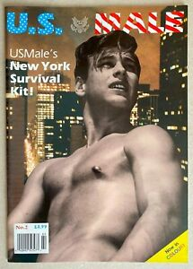 VINTAGE UK PHYSIQUE MAGAZINE * U.S. MALE * #2 * 1990 * HTF! * GAY INTEREST