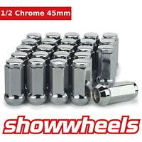 """20 x 1/2"""" inch chrome wheel nuts 45mm Ford Falcon FG BF BA AU EL EF EA EB XC XD"""