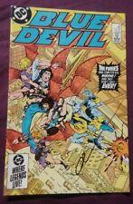 blue devil #10 signed by gary cohn rare dc comics comic book cool vintage sweet!