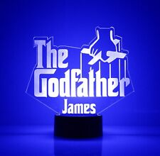 Best Godfather Gift - Personalized FREE,16 Color LED Lamp, Godfather Design