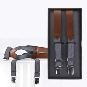 Lloyd Hosenträger Y Form Holländer 120cm 25mm Lederparts mit 3 Clips marine