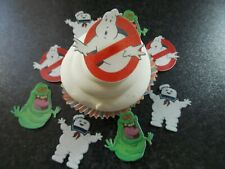 12 PRECUT Edible Ghostbusters wafer/rice paper cake/cupcake toppers