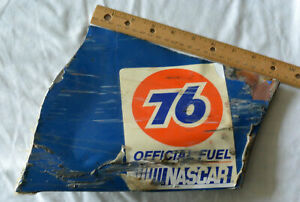 RARE KENNY IRWIN BELLSOUTH TEAM SABCO RACE USED SHEETMETAL 76 OFFICIAL FUEL