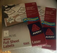 2 Avery 5165 White Shipping Labels Laser 8 12 X 11 100 Labels 100 Sheets