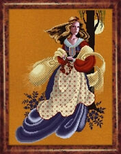 LAVENDER AND LACE: EVANGELINE CROSS STITCH PATTERN
