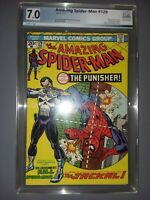 AMAZING SPIDER-MAN #129 1974 PGX 7.0 White Pages 1st Punisher Not Pressed