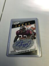 Lee Suggs 2003 SAGE HIT Emerald Rookie Auto! Virginia Tech! RARE