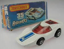 MATCHBOX Superfast Rola-matics 35 - Fandango - white blue 6 Decal - in OVP Box