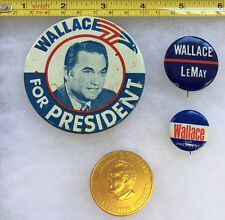 Wallace/LeMay Political Buttons, Alabama George Wallace Gold Tone Coin