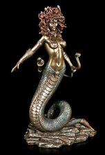Medusa Figur mit Schlangen Bogen - Veronese Statue Göttin Deko bronziert