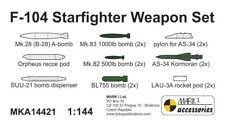 Mark I Models 1/144 Resin Set A14421 Lockheed F-104 Starfighter Weapon Set