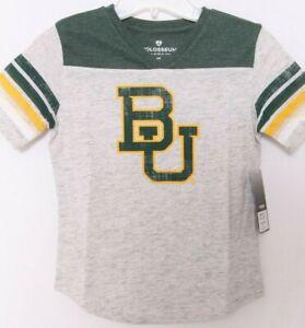 NEW Baylor BU Bears Colosseum Veruca Heathered Gray SS Tee Shirt Girls M 7-8