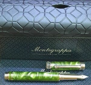Montegrappa Pen Espressione Marbled Green Fountain Pen