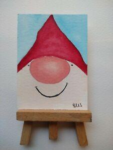 ELW Original, Aceo Cards.  Happy gonk