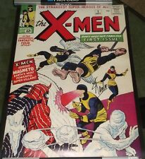 STAN LEE SIGNED UNCANNY X-MEN #1 ASGARD PRESS ART PRINT POSTER 20 X 28 WITH COA