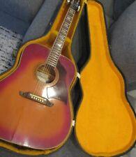 Eko Rio Bravo Vi - Vintage Set Neck Acoustic Guitar - Hsc - Made in Italy - Rare