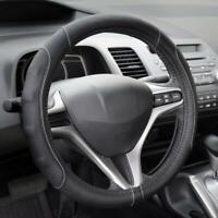 Motor Trend Steering Wheel Cover Black Microfiber Leather Sport Drive Green