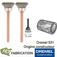 Brosse en acier inoxydable 13 mm dremel 531 Lot de 2 - 26150531JA